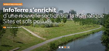 La cartographie géologique et de la pollution industrielle est accessible via le portail …